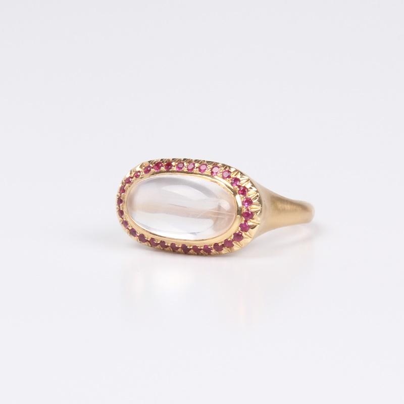 elongated Moonstone ring