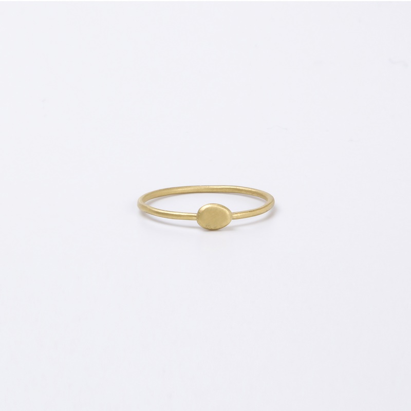 Thin Oval element ring