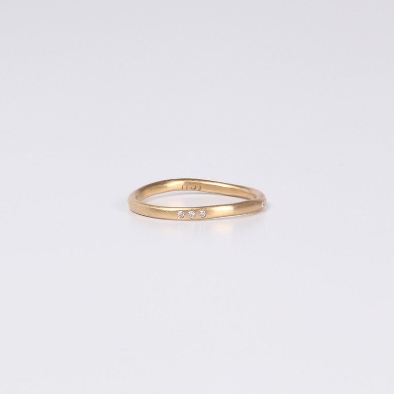 Trio crooked ring