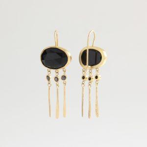 Onyx and Black Diamonds earrings