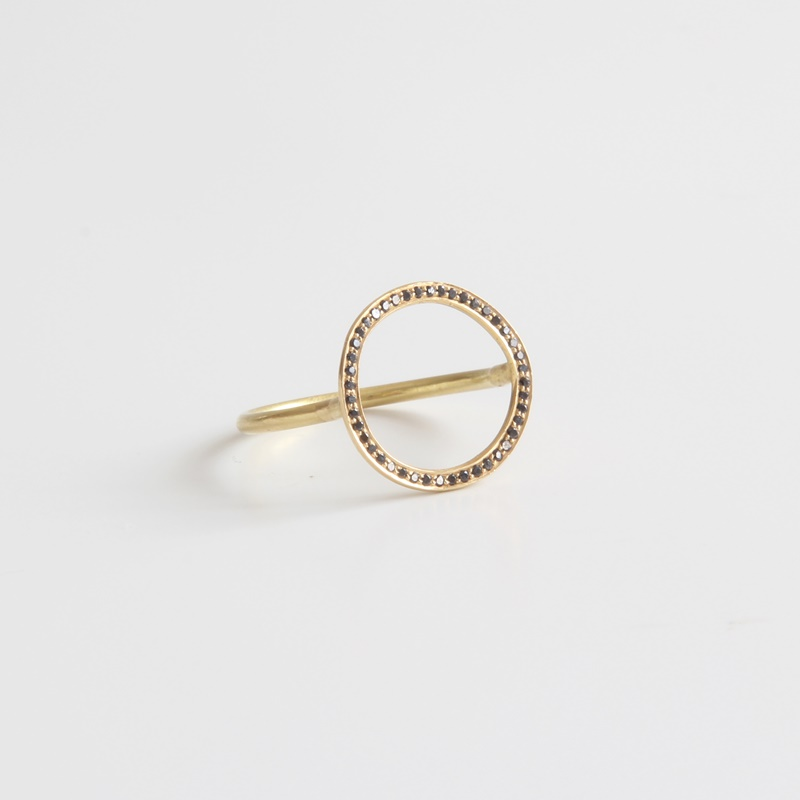 Black Diamonds Halo ring