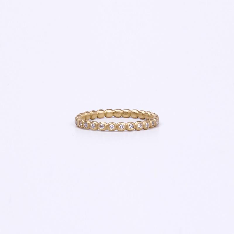 Diamonds orbs ring