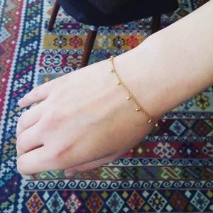 Diamond orbs bracelet