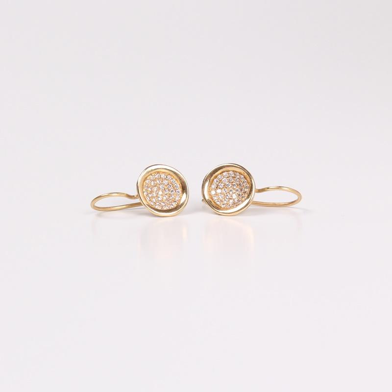 Hanging Diamonds bowl earrings