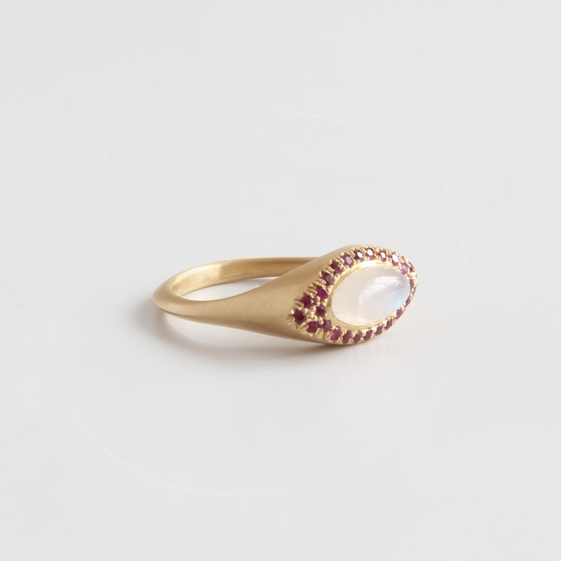 Marquee Moonstone ring