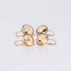 Citrine Rose cut earrings