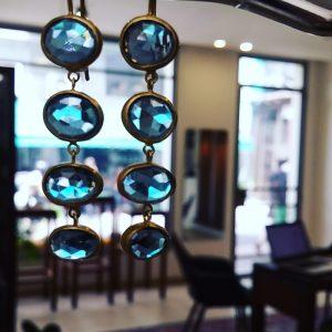 Blue Topaz earrings X4