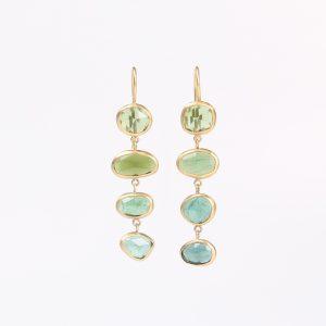Green Tourmaline earrings X 4