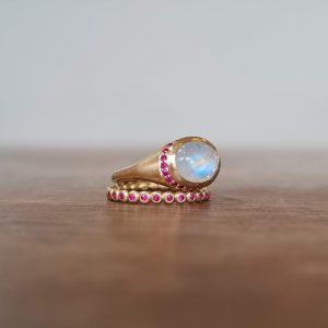Rubies orbs ring